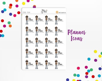 Planner Sticker Icons- Planner Icons; Planner Girl, Plan