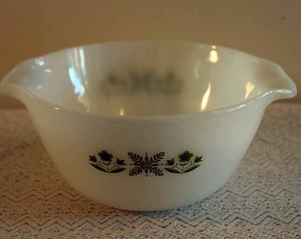 Green Meadow Mixing Bowl, Fire King Anchor Hocking Mixing Bowl, Fire King Mixing Bowl