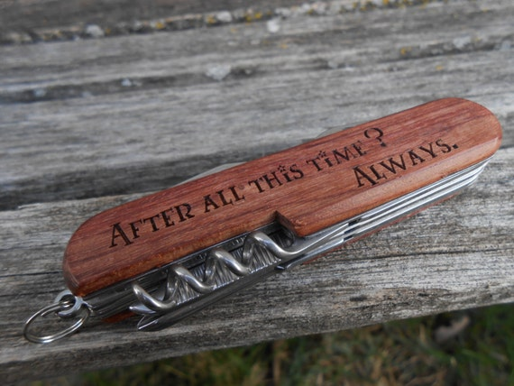 After All This Time? Always Pocket Knife, Laser Engraved Wood. Wedding, Men's, Groomsmen Gift, Dad, Anniversary