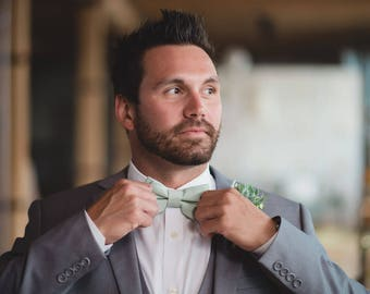 Dusty Shale Bow Tie, Dusty Green Bow Tie, Adult & Children, Made in the USA, 5 or more, use coupon TENOFF5 at checkout for 10% off