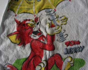 Tom and Jerry Kitchen towel vintage