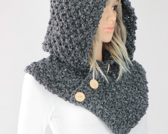 Hooded Cowl Pattern #25 - Knit Oslo Cowl Pattern - Knitting Cowl Scarf PATTERN - Digital Download - Not a Physical Scarf!