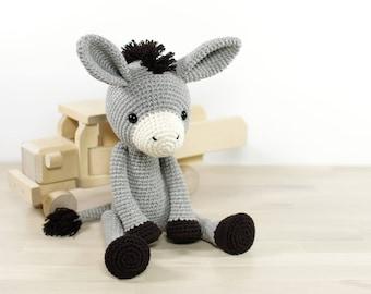 PATTERN: Donkey - Amigurumi crochet pattern and tutorial (EN-077)