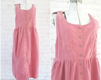 Vintage Bubble Gum Pink Country Jumper dress
