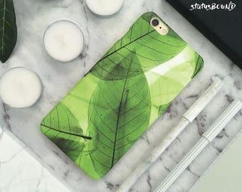 Leaves iPhone Case iPhone 8 Case iPhone 8 Plus Case iPhone 7 Case iPhone 7 Plus Case iPhone 6S Case iPhone 6S Plus Case Matte Floral Green
