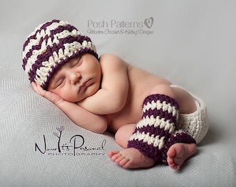 Crochet PATTERN - Baby Leg Warmers Pattern - Crochet Hat Pattern - Crochet Pattern Baby - Newborn to Toddler - Photo Prop Pattern- PDF 317