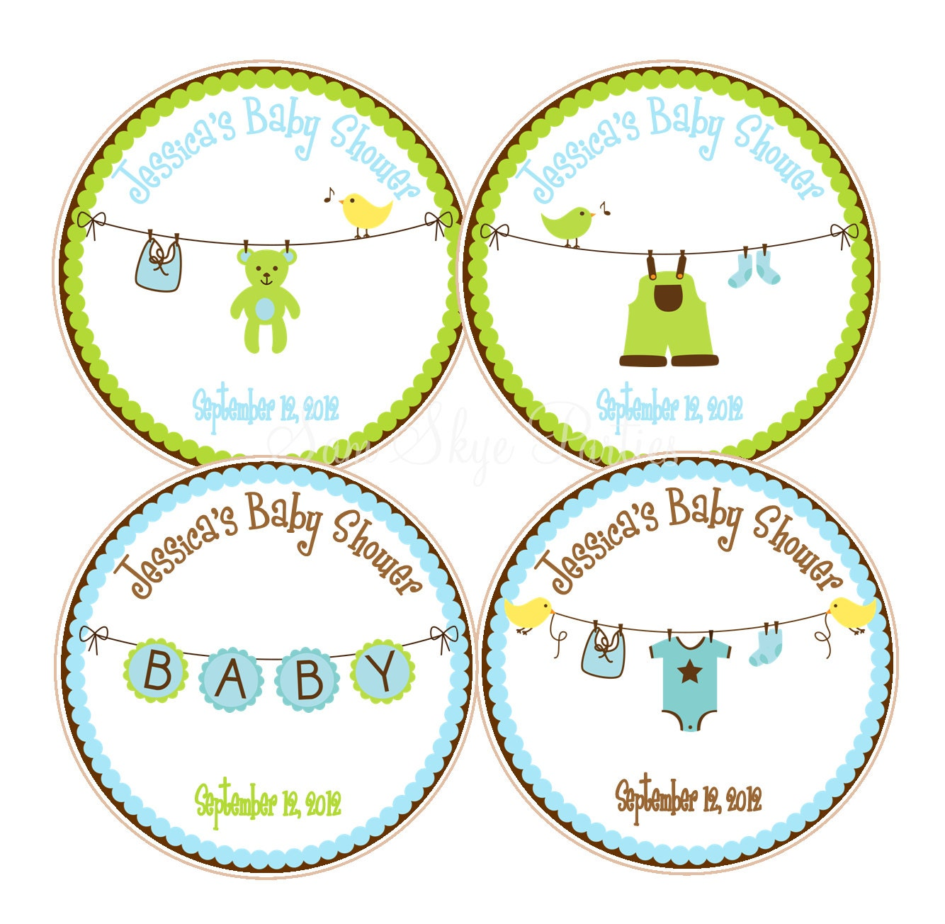 Cute boy baby shower favor tags baby showers or 1st birthday zoom negle Gallery