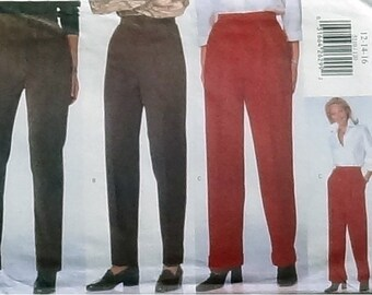 Butterick Very Easy Misses/Misses Petite Pants Pattern #5210 - Size 12+14+16 - UNCUT Factory Folded