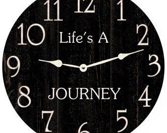 Life's A Journey Clock