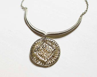 Lyla - ancienne ronde Collier pendentif