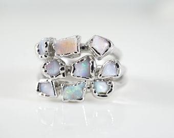 Opal Engagement Ring • Opal Ring • October Birthstone • Alternate Engagement • Rings for Women • Electroformed Ring • Anniversary Gift • Mom