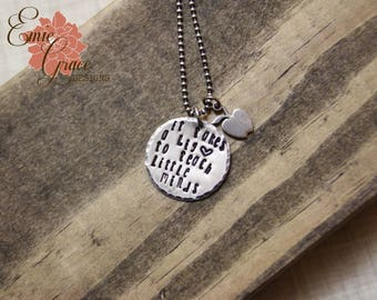 Teachers Necklace, Sterling Silver, Apple, It Takes a Big Heart to Teach Little Minds Necklace, Teacher Gift