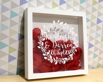 Personalised Wedding / Anniversary papercut gift, Wedding Gift, Anniversary gift, 1st Anniversary, Paper anniversary, One year anniversary