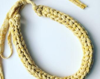 Mustard crochet necklace