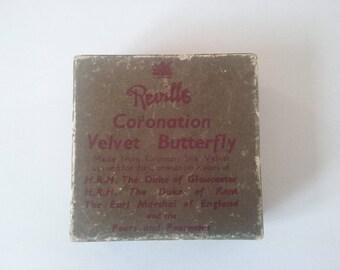 velvet coronation butterfly brooch in the original box