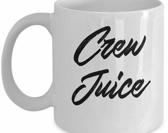 Funny Flight Attendant Mug - Crew Juice