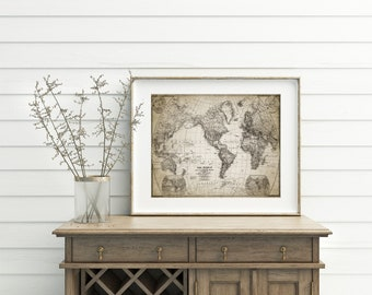 Antique world map etsy gumiabroncs Images