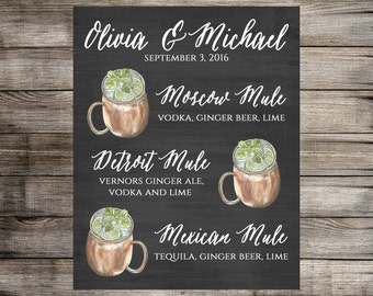 Moscow Mule Signature Drink Sign