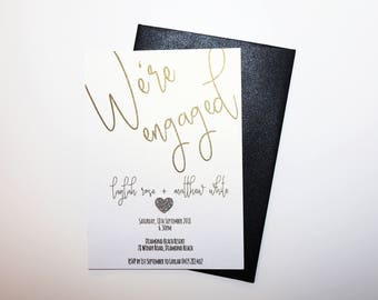 Engagement Party Invite with envelope Handmade Personalised