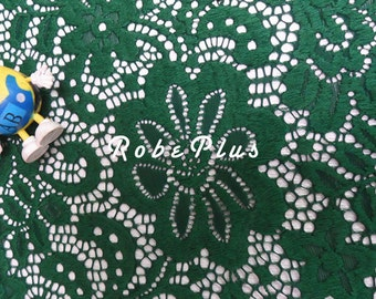 Green Lace fabric - Red lace fabric- White lace fabric- Black lace fabric-Premium Heavy Floral Lace Fabric - Chemical Lace Fabric - L58