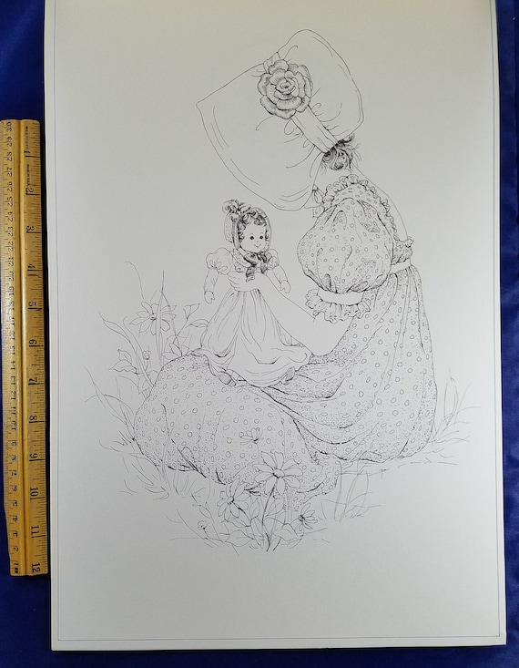 Vintage Kate Greenaway Coloring Book in BoxPoster Size