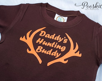 Daddy's Little Hunter Boy Shirt, Toddler Boy Shirt, Deer Shirt, Antler Shirt, Little Hunter Shirt, Hunting Shirt for Boys, Antler Shirts P7