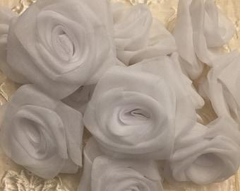 Sheer white roses