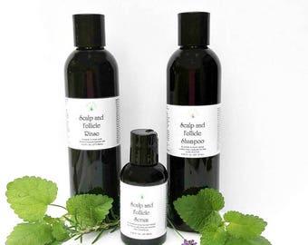 Hair growth products, hair growth shampoo, hair growth conditioner, and hair growth serum, Scalp and Follicle, hair care set