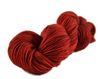 Merino Worsted Yarn, Superwash Merino yarn, worsted weight yarn, merino yarn, 100% Superwash Merino, red yarn, worsted merino - Cherry Pie