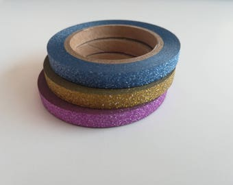 Washi tape - packs of 3 - 5mm for bullet journal and scrapbooking