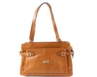 70's Vintage Tan Tote Bag