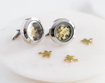 Love You To Pieces' Personalised Cufflinks