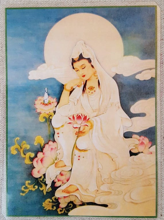 Guan yin card goddess of compassion kuan yin card buddha thecheapjerseys Gallery