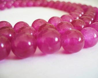 Jade Beads Pink Round 10MM