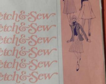 Stretch & Sew 425 Gored skirts pattern Uncut Sizes 30-46