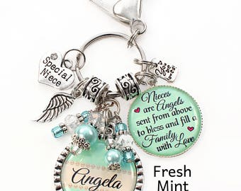 Niece Gift, Purse/Bookbag/Car Charm, Niece, Niece Necklace, Niece Jewelry, Niece Birthday, Niece Christmas, Special Niece, Niece Keepsake