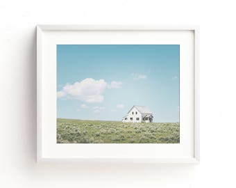 "colorful landscape wall art, farmhouse wall art, farmhouse art prints, large wall art, colorful landscape photography, art - ""A Simple Life"""