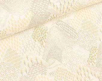 Cotton double Gauze Miriam landscape Golden yellow (15.50 EUR/meter)