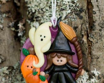 Halloween Ornament Handmade Sculpture