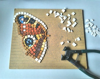 DIY MOSAIC KIT Butterfly Inachis Io, Original gift idea, Hobby relaxing, Home decor,