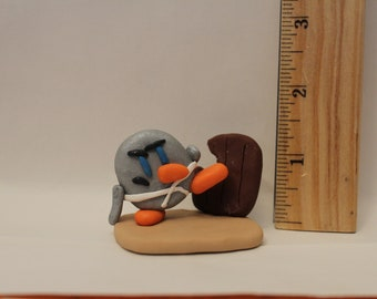Statue= Karate Penguin -Polymer Clay-