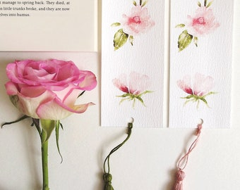 Floral Bookmark with tassel