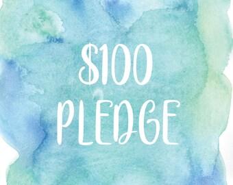 3 Digital Prints plus 1 Custom Digital Print with 100 Dollar Pledge to Support Valerie Joplin