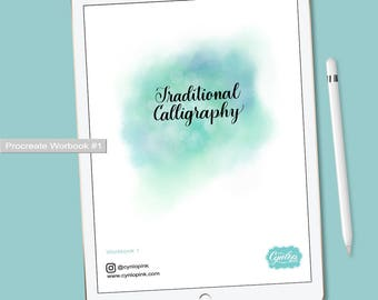 Traditional Calligraphy Workbook #1 for Procreate