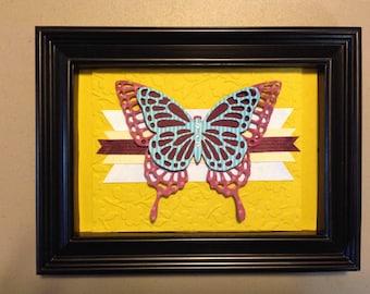 Framed 3D Butterfly Art