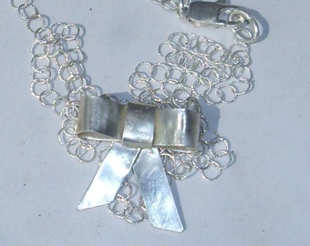 Sterling Bow Pendant