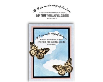 Wings of the Dawn.... unmounted rubber stamp, Christian bible verse, scripture, bible journaling, Sweet Grass Stamps No.16
