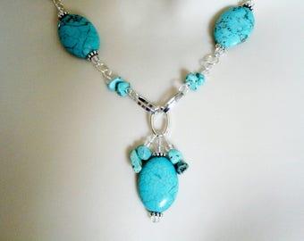 Turquoise Necklace, boho jewelry bohemian jewelry turquoise jewelry hippie jewelry gypsy boho necklace bohemian necklace hippie necklace