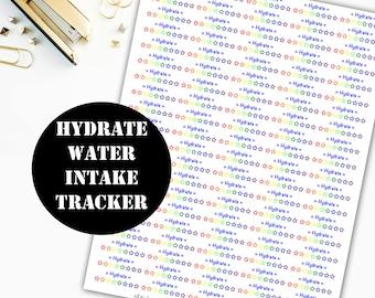 Hydrate Water Printable Planner Stickers // Erin Condren Life Planner / Kikki Planner / Plum Paper Planner / Midori / Planner Insert 00002