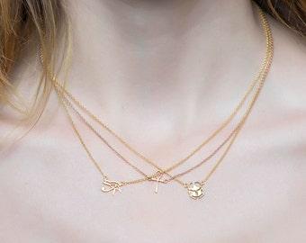 Egyptian Hieroglyph necklace, eye of horus necklace, owl necklace, OVO, drake necklace, hieroglyphic, ankh necklace